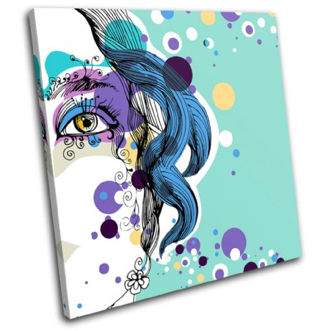 Abstract Girl Blue Fashion - 13-0223(00B)-SG11-LO